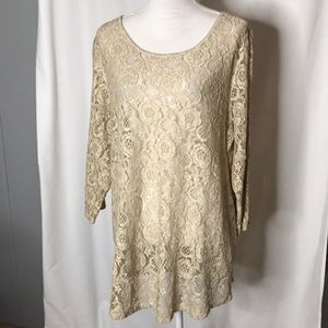 NWT Chico's Size 3 Lace Layering Tunic Length